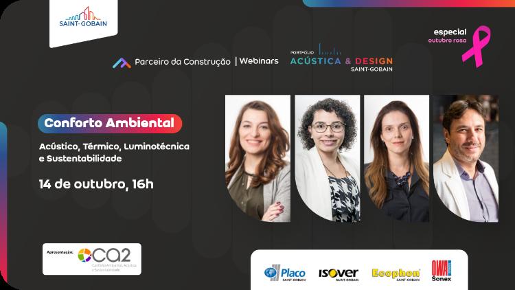 poster de divulgação do webnar com Larissa Luiz, Raquel Sanches e Andrea Destefani