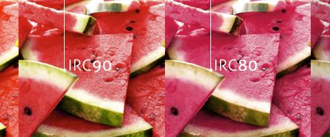melancias em diferentes reproduções de cores