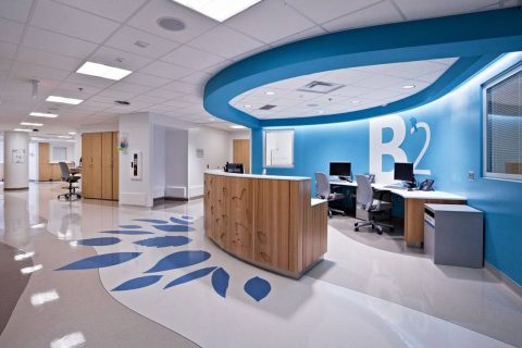 recepção hospitalar